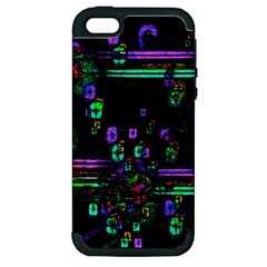 Digital Painting Colorful Colors Light Apple Iphone 5 Hardshell Case (pc+silicone)
