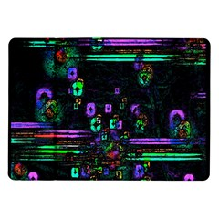 Digital Painting Colorful Colors Light Samsung Galaxy Tab 10.1  P7500 Flip Case