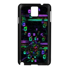 Digital Painting Colorful Colors Light Samsung Galaxy Note 3 N9005 Case (Black)