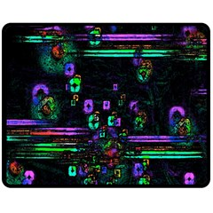 Digital Painting Colorful Colors Light Double Sided Fleece Blanket (medium)