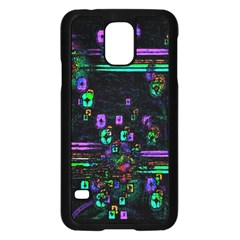 Digital Painting Colorful Colors Light Samsung Galaxy S5 Case (black)