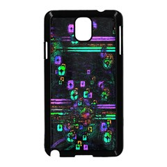 Digital Painting Colorful Colors Light Samsung Galaxy Note 3 Neo Hardshell Case (Black)
