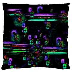 Digital Painting Colorful Colors Light Large Flano Cushion Case (One Side)
