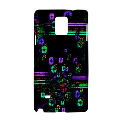 Digital Painting Colorful Colors Light Samsung Galaxy Note 4 Hardshell Case