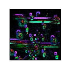 Digital Painting Colorful Colors Light Small Satin Scarf (Square)