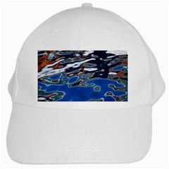 Colorful Reflections In Water White Cap