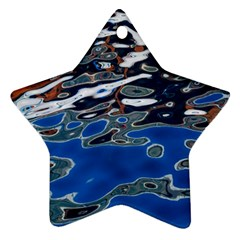 Colorful Reflections In Water Ornament (star)
