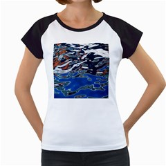 Colorful Reflections In Water Women s Cap Sleeve T