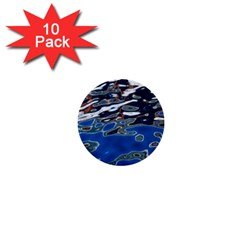 Colorful Reflections In Water 1  Mini Buttons (10 Pack)