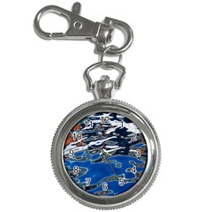 Colorful Reflections In Water Key Chain Watches