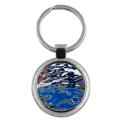Colorful Reflections In Water Key Chains (round)