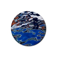 Colorful Reflections In Water Rubber Coaster (Round)