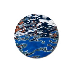 Colorful Reflections In Water Magnet 3  (round)
