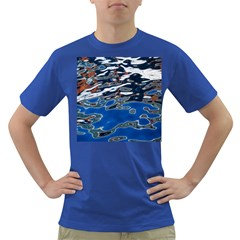 Colorful Reflections In Water Dark T Shirt