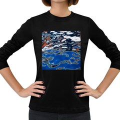 Colorful Reflections In Water Women s Long Sleeve Dark T Shirts