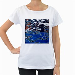 Colorful Reflections In Water Women s Loose-Fit T-Shirt (White)
