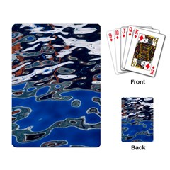 Colorful Reflections In Water Playing Card