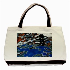 Colorful Reflections In Water Basic Tote Bag
