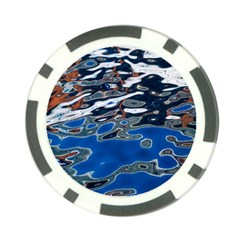 Colorful Reflections In Water Poker Chip Card Guard