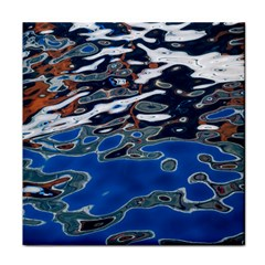 Colorful Reflections In Water Face Towel