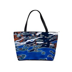 Colorful Reflections In Water Shoulder Handbags