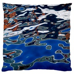 Colorful Reflections In Water Large Cushion Case (two Sides)