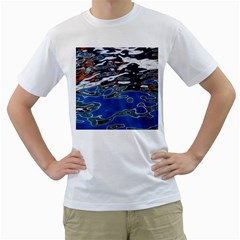 Colorful Reflections In Water Men s T-Shirt (White)