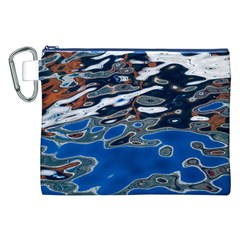 Colorful Reflections In Water Canvas Cosmetic Bag (xxl)