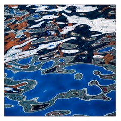 Colorful Reflections In Water Large Satin Scarf (square)