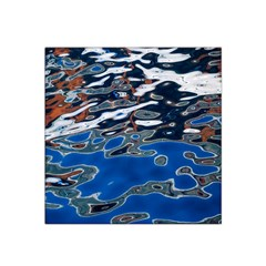 Colorful Reflections In Water Satin Bandana Scarf