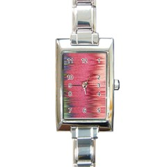 Rectangle Abstract Background In Pink Hues Rectangle Italian Charm Watch