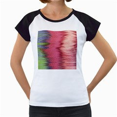 Rectangle Abstract Background In Pink Hues Women s Cap Sleeve T