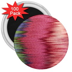 Rectangle Abstract Background In Pink Hues 3  Magnets (100 Pack)