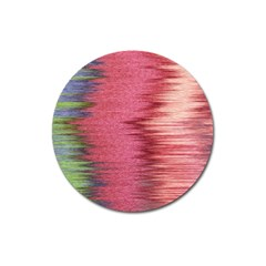 Rectangle Abstract Background In Pink Hues Magnet 3  (Round)