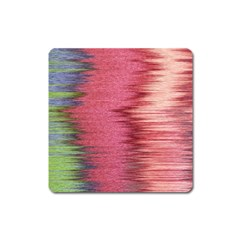Rectangle Abstract Background In Pink Hues Square Magnet