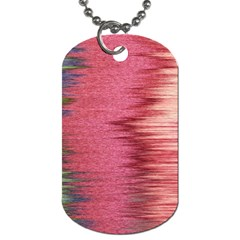 Rectangle Abstract Background In Pink Hues Dog Tag (Two Sides)
