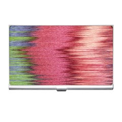 Rectangle Abstract Background In Pink Hues Business Card Holders