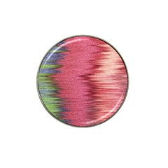 Rectangle Abstract Background In Pink Hues Hat Clip Ball Marker (4 Pack)