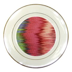 Rectangle Abstract Background In Pink Hues Porcelain Plates