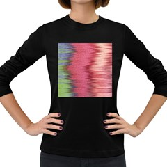Rectangle Abstract Background In Pink Hues Women s Long Sleeve Dark T-Shirts