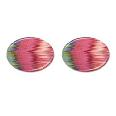 Rectangle Abstract Background In Pink Hues Cufflinks (Oval)