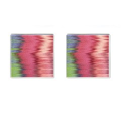 Rectangle Abstract Background In Pink Hues Cufflinks (Square)