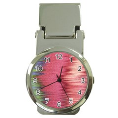 Rectangle Abstract Background In Pink Hues Money Clip Watches