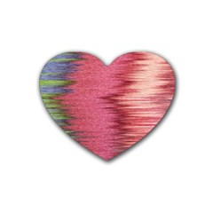 Rectangle Abstract Background In Pink Hues Heart Coaster (4 Pack)