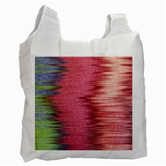 Rectangle Abstract Background In Pink Hues Recycle Bag (two Side)