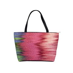 Rectangle Abstract Background In Pink Hues Shoulder Handbags