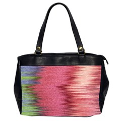 Rectangle Abstract Background In Pink Hues Office Handbags (2 Sides)
