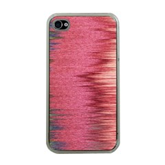 Rectangle Abstract Background In Pink Hues Apple Iphone 4 Case (clear)