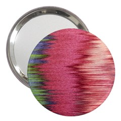 Rectangle Abstract Background In Pink Hues 3  Handbag Mirrors