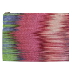 Rectangle Abstract Background In Pink Hues Cosmetic Bag (xxl)